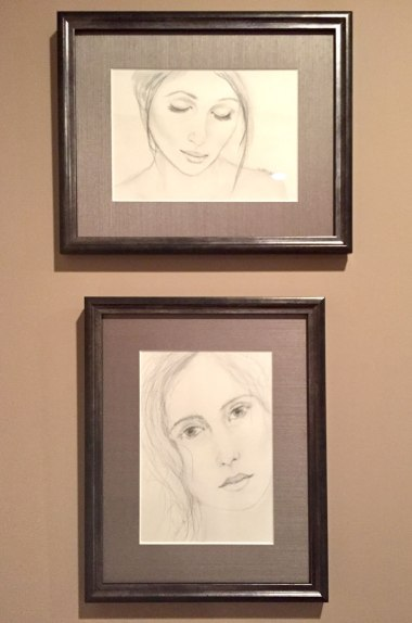 2 Sketches Beautifully Framed